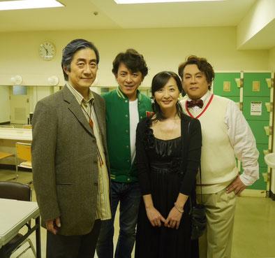 左から、伊藤純先生、宮本益光先生、平塚洋子先生、望月哲也先生