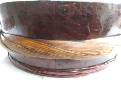 寿司桶 箍の接着