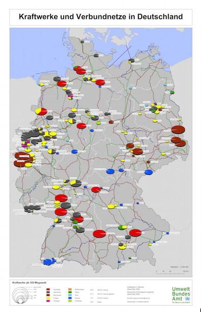 © Umweltbundesamt: Übertragungsnetz  2008