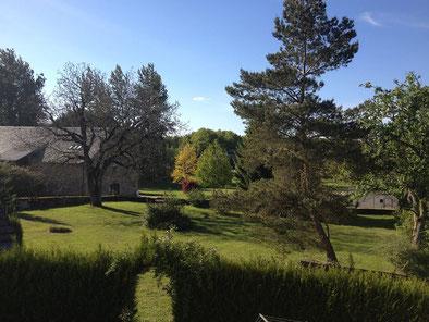 Garten der Auberge Saint-Julien-aux-bois