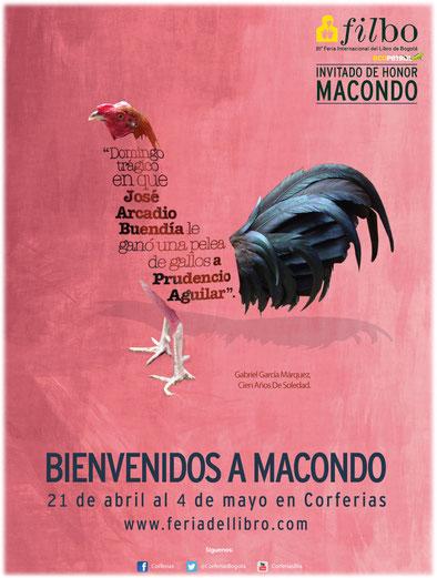 Poster promocional de la 28a. Feria Internacional del Libro de Bogotá suministrado por Corferias.