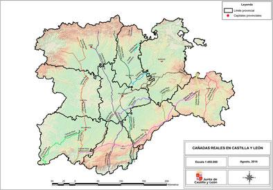 Cañadas Reales por Castilla y León