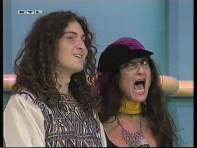 "Atman and Pyari at ""The Gong Show"", RTL TV, Hamburg, 1992"