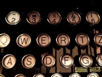Schreibmaschine, Schrift, Letter, QWERTZ