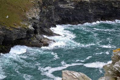 Küste Nord-Cornwall bei Tintagel Castle