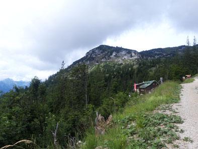 Steyrerhütte, dahinter der Roßschopf