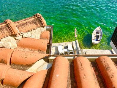 Blick aus meinem Zimmer auf den Ohrid-See