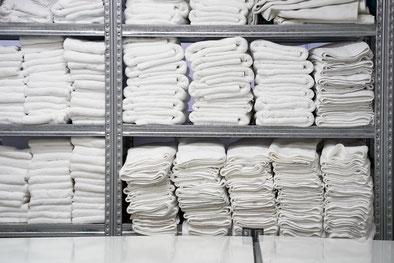 Textilien wie Handtücher können als Rohstoff dienen.