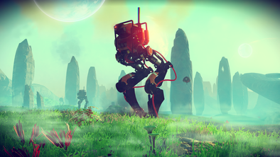 Omnipräsene Aufpasser - die Sentinels [Quelle: Hello Games]