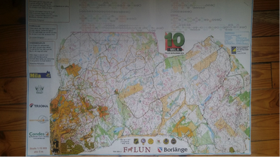 La carte tous poste donné après la course à tous les coureurs ave le tableau des combinaisons en haut