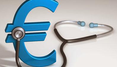 Eurosymbol_mit Stetoskop-ohne-Krankenversicherung