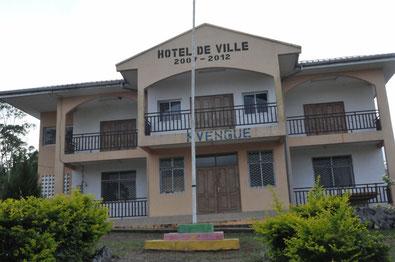 Hôtel de ville de Mvengue, construit de 2007 à 2012