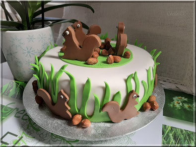Cake design squirrel cake tutorial