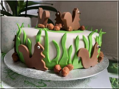 Tutoriel cake design gâteau écureuil