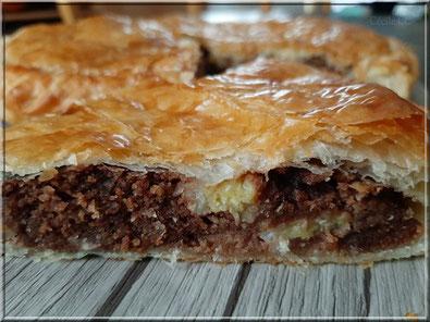 recette galette des rois fourrée crème d'amande pralinoise et banane