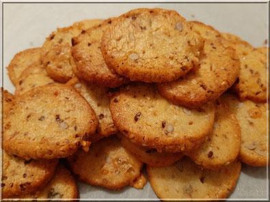 Sablés au gorgonzola et petites graines