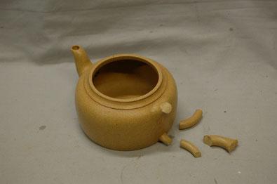茶器の持ち手の割れ