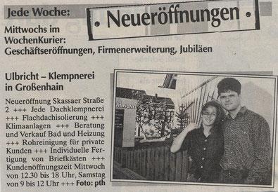 Presse Klempnerei Ulbricht Großenhain