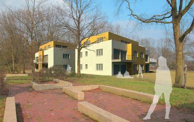 Gebäude mit 3 Etagen