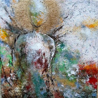 Engel - Mischtechnik auf Leinwand - 50 x 50
