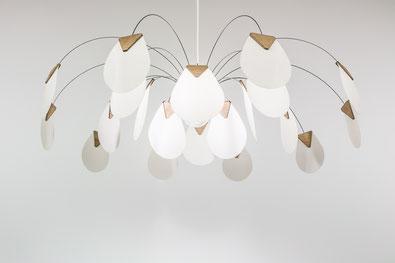 luminaire design papier bois eole corolle