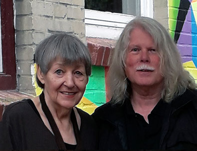 Friedeborg Jungermann und Wolfgang Decker vor unserem KunstWerk