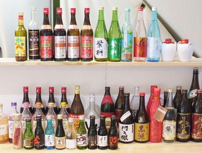ビール、焼酎、梅酒、酎ハイ、紹興酒、日本酒、冷酒