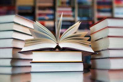 Bücher in der Bücherei