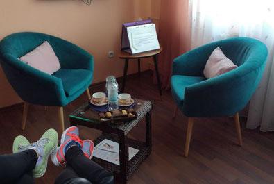 Stressbewältigungskurs in meinem Praxisraum Hanau