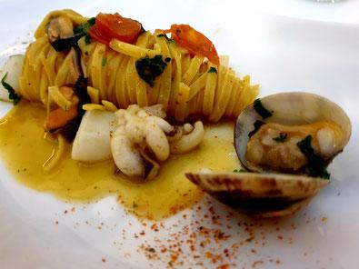 Pasta Meeresfrüchte Restaurant La Grappa Detmold