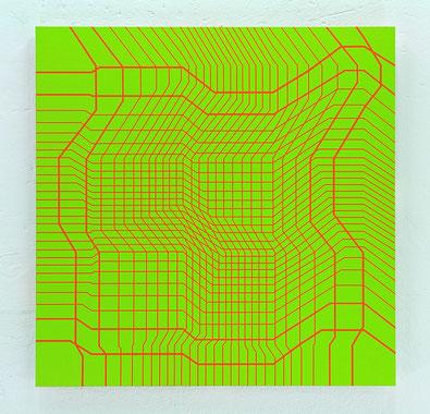 Jean-Claude Houlmann, Lack auf MDF, 100x100cm