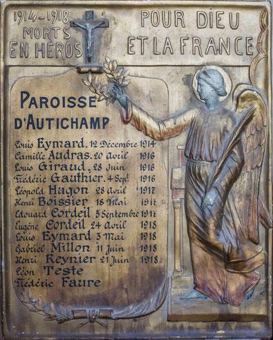 La plaque de l'église