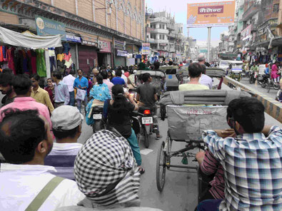 Rikschafahrt in Varanasi  Foto: Weil