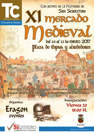 Programa del Mercado Medieval en Torrejón de la Calzada