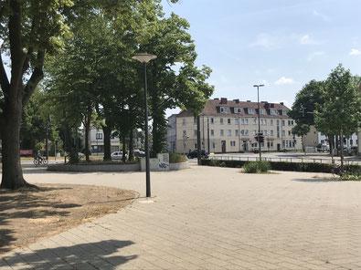 Freifläche neben dem Busbahnhof Bremen-Huckelriede