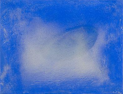 o. T. (Melser Grau vor Blau, 203) 2012 Tempera 70 x 90 cm