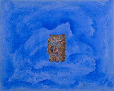 Rinde vor Blau (201) 2012 Tempera 80 x 100 cm