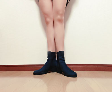 膝の向きが悪くて腰痛の奈良県上牧町の女性