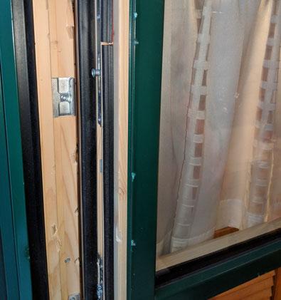Holzfenster, Einbruch, Spuren