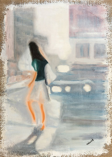 Olio su tela - quadro -  Opera pittorica - Arte italiana