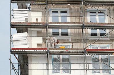 Wärmedämmung, Fassadengestaltung, Maler Nauen