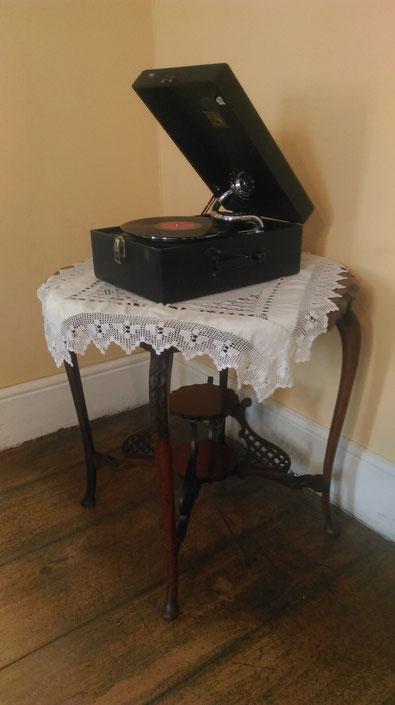 old music grammophone inside the old residency, visit south africa graaff reinet
