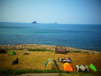 明屋海岸 キャンプ