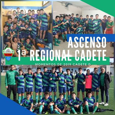 Plantilla Cadete D C.D. Pablo Iglesias | Temporada 2019-2020 Elche