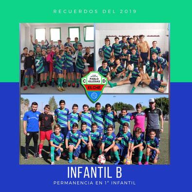 Plantilla Infantil B C.D. Pablo Iglesias | Temporada 2019-2020 Elche