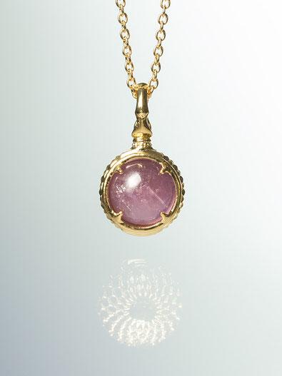 A dragon's jewel NUBUSHI-TAMA that prays at Okinawa's Utaki. Lavender amethyst Power Stone Pendant Necklace