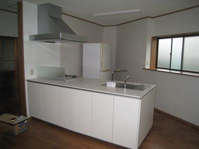 改装後のキッチン