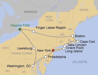 Mietwagenrundreise im Osten der USA