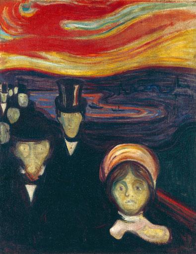 """E. Munch, """"L'ansia"""" (1894)"""