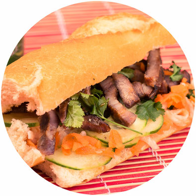 On le trouve à la sandwicherie : le sandwich banh mi